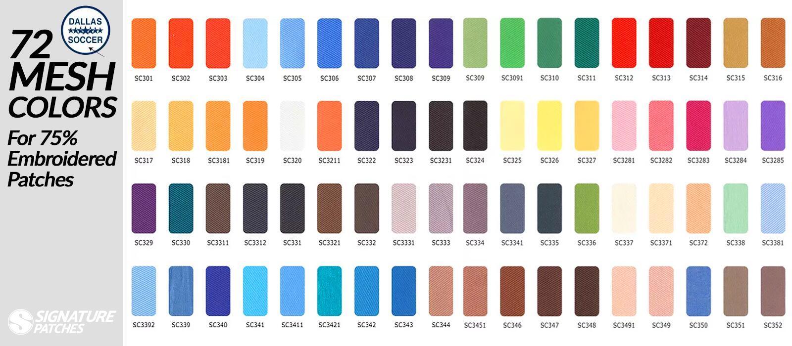 Signature Patches-Mesh-colors
