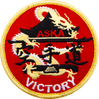 ASKA victory Red karate patch