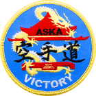 ASKA victory Blue karate patch