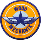 Wood Mechanix Iron On Patch